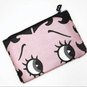 NEW Betty Boop ipsy Cosmetic Sequin Makeup Bag